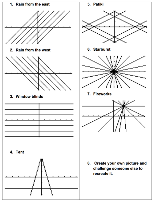 Straight line pictures resource sheet.