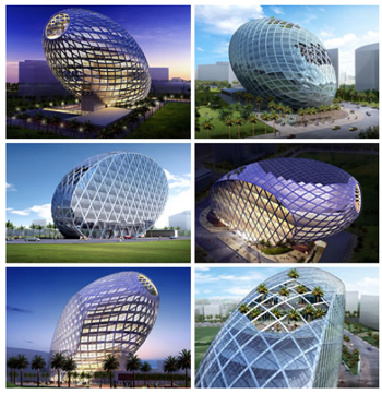 examples of conic sections in architecture