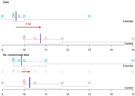 Randomisation test graph image.
