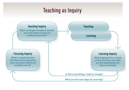 NZC - Teaching as inquiry diagram.
